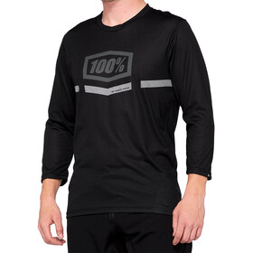 100% Airmatic Enduro/Trail 3/4 Jersey Heren, black